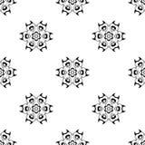 模式无缝的向量 重复几何 黑白se 库存照片