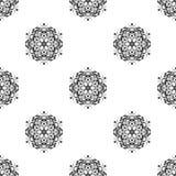 模式无缝的向量 重复几何 黑色白色 免版税库存照片