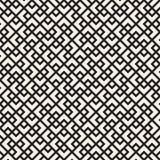 模式无缝的向量 重复纹理的滤网 与混乱形状的线性栅格 时髦的几何网格设计 免版税库存照片