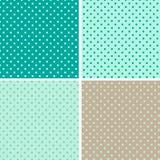 模式无缝的圆点花样的布料背景 免版税库存图片