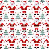 模式无缝的圣诞老人 免版税库存照片