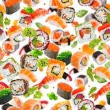模式无缝的寿司 免版税库存照片