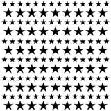 模式无缝的星形 白色和黑减速火箭的背景 混乱元素 抽象几何形状纹理 天空的作用 设计 库存例证