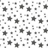 模式无缝的星形 逗人喜爱的孩子星无缝的样式 与星的无缝的啪答声 得出准备好的星形向量的背景下载 婴孩时尚 库存例证