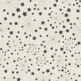 模式无缝的星形 免版税库存照片