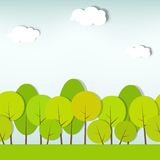模式无缝的灌木结构树向量 免版税库存照片