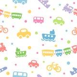 模式无缝的玩具运输 免版税库存照片