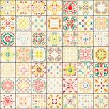 模式无缝的瓦片 五颜六色的boho样式 多孔黏土创建了iillustrator装饰品模式软件 库存图片
