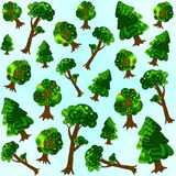 模式无缝的结构树 免版税库存图片