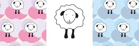 模式无缝的绵羊 图库摄影