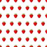 模式无缝的草莓 也corel凹道例证向量 库存例证