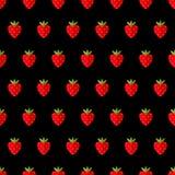 模式无缝的草莓 也corel凹道例证向量 库存图片