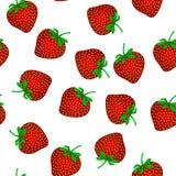 模式无缝的草莓 库存例证