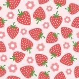 模式无缝的草莓 图库摄影