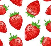 模式无缝的草莓 免版税库存图片