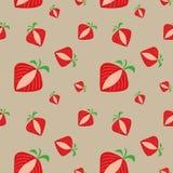 模式无缝的草莓 免版税库存照片