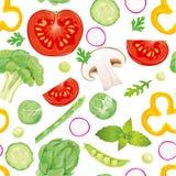 模式无缝的蔬菜 库存图片