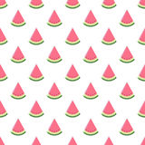 模式无缝的西瓜 也corel凹道例证向量 库存图片