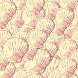 模式无缝的贝壳 向量例证