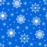 模式无缝的雪花 图库摄影