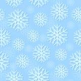 模式无缝的雪花 向量例证