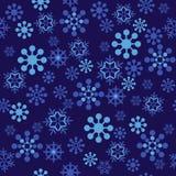 模式无缝的雪花 库存图片