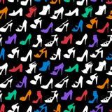 模式无缝的鞋子 免版税图库摄影