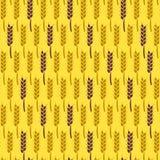模式无缝的麦子 收获传染媒介例证 免版税图库摄影