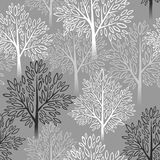 模式无缝的结构树 也corel凹道例证向量 免版税图库摄影