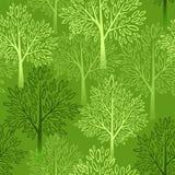 模式无缝的结构树 也corel凹道例证向量 免版税库存图片
