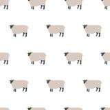 模式无缝的绵羊 库存例证