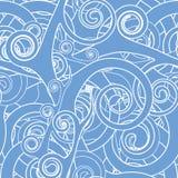 模式无缝的swirly墙纸 免版税库存照片
