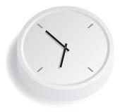 模式时钟白色 库存图片