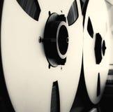 模式有大卷轴的立体音响开放卷轴磁带机记录器 免版税库存图片
