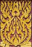 模式样式泰国传统墙壁 库存图片