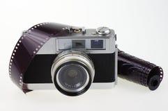 模式照相机和胶片 免版税库存图片
