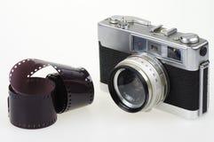 模式照相机和胶片 免版税图库摄影