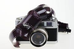 模式照相机和胶片 免版税库存照片