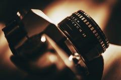 模式照相机葡萄酒 库存图片