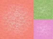 模式玫瑰无缝的集墙纸 库存照片