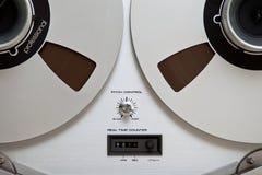 模式甲板开放记录员卷轴立体声磁带 库存图片