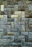 模式石瓦片墙壁 免版税库存图片