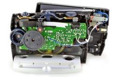 模式破裂的查出的收音机 免版税库存照片