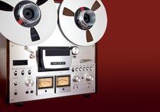 模式立体音响开放卷轴磁带机记录器短管轴 免版税库存图片
