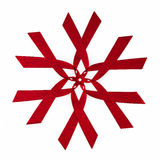 模式红色丝带 库存照片