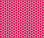 模式红色无缝的白色 库存照片