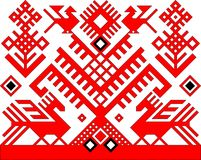 模式红色 库存图片