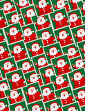 模式纵向无缝的圣诞老人 免版税库存照片