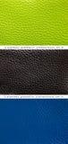模式绿色,蓝色和黑色皮革 免版税库存照片