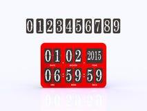 模式记分牌数字式定时器 免版税图库摄影